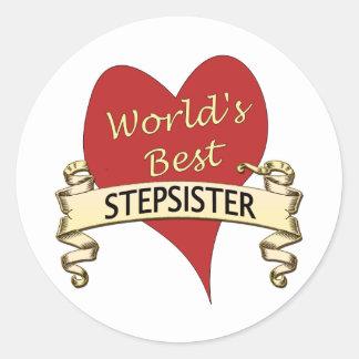 World's Best Stepsister Classic Round Sticker