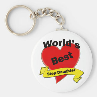 World's Best Stepsister Keychain