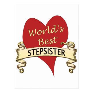 World's Best Stepsister Postcard