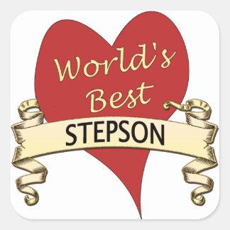 World's Best Stepson Square Sticker