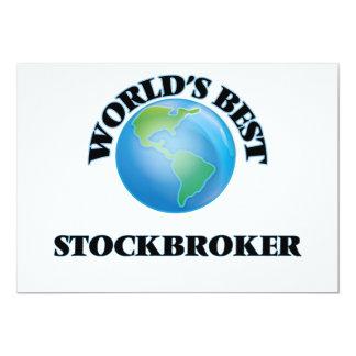 World's Best Stockbroker 5x7 Paper Invitation Card