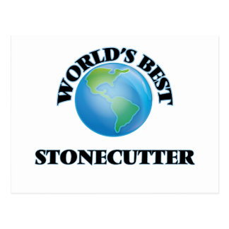 World's Best Stonecutter Post Card