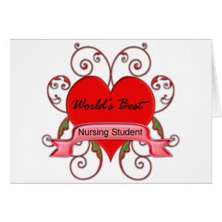 World's Best Student Nurse Greeting Card