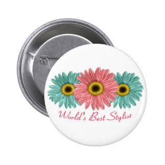World's Best Stylist Button