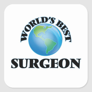 World's Best Surgeon Square Stickers