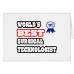 World's Best Surgical Technologist Card
