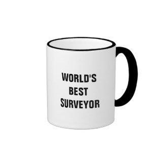 World's best Surveyor Ringer Coffee Mug