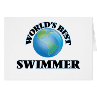 World's Best Swimmer Greeting Cards