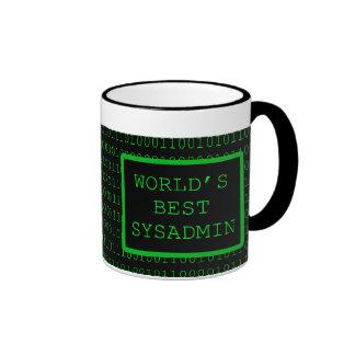 World's Best SysAdmin Ringer Coffee Mug
