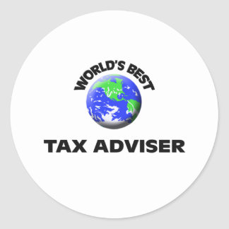 World's Best Tax Adviser Round Stickers