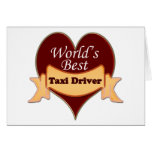 World's Best Taxi Driver Cards