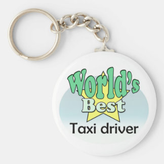World's best taxi driver keychain