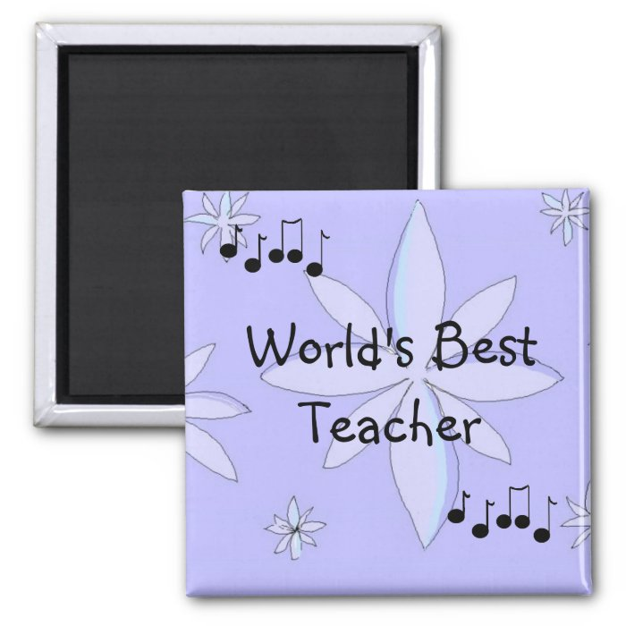 Worlds Best Teacher 2 Inch Square Magnet
