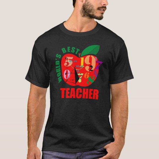 World's Best Teacher Apple T-Shirt