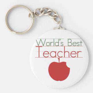 Worlds Best Teacher Basic Round Button Keychain