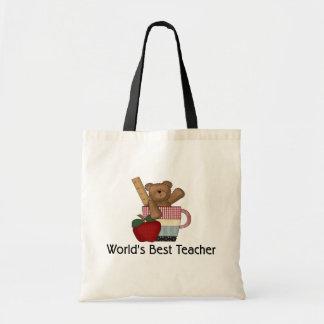 World's Best Teacher Budget Tote Bag