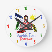 World's Best Teacher Clock