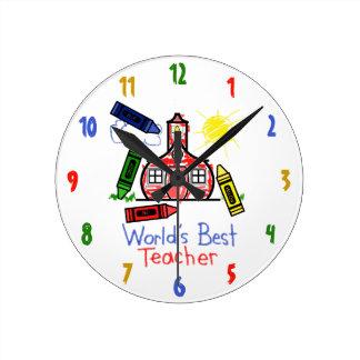 World's Best Teacher Clock