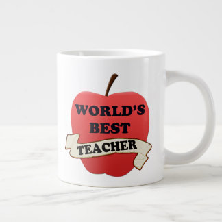 World's Best Teacher Giant Coffee Mug
