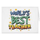 World's Best Teacher Greeting Cards
