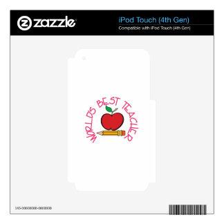 Worlds Best Teacher iPod Touch 4G Decal