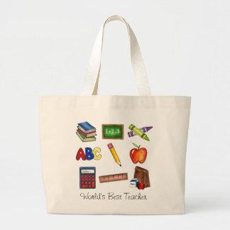 World's Best Teacher Jumbo Tote Bag