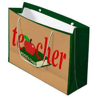 World's Best Teacher Large Gift Bag