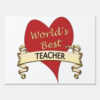 World's Best Teacher Lawn Sign