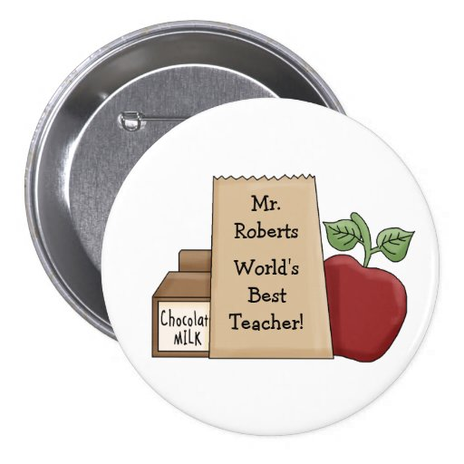 World's Best Teacher!-Personalize Name Button