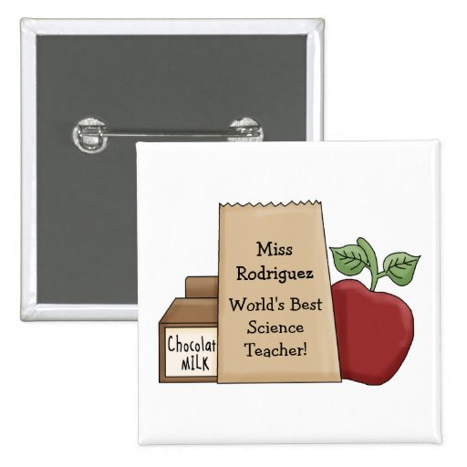 World's Best Teacher!-Personalize Name/Subject Button