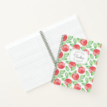 World's Best Teacher | Personalized Apple Pattern Notebook