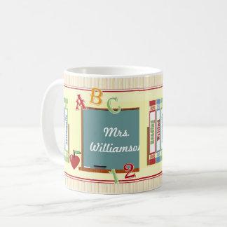 Worlds Best Teacher Personalized Art Mug