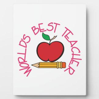 Worlds Best Teacher Plaque