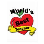 World's Best Teacher Post Cards