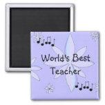 Worlds Best Teacher Refrigerator Magnets