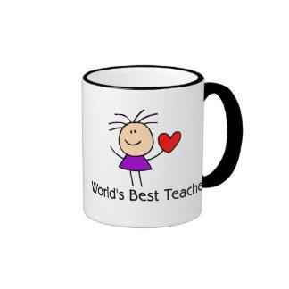 World's Best Teacher Ringer Mug