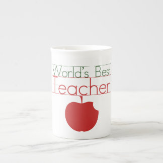 Worlds Best Teacher Porcelain Mugs
