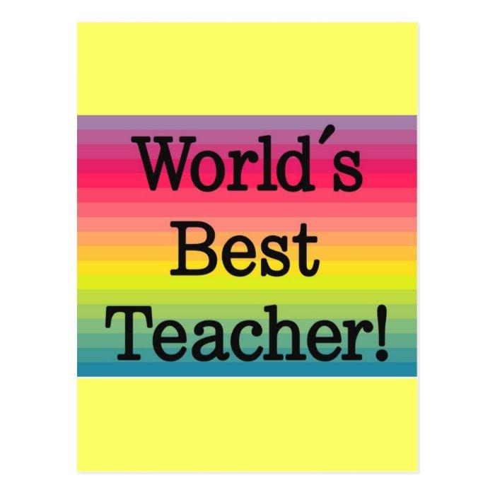 World's Best Teacher - Teacher gift Postcard