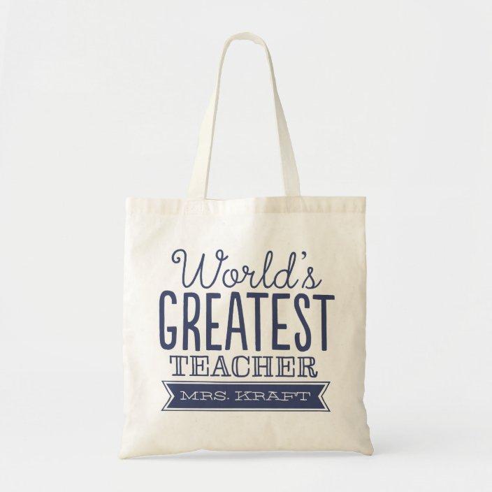 Best Teacher Ever Teacher Canvas Tote Bags Book Bag Personalized Custom Teacher Totes Teacher Gift