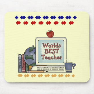 Worlds Best Teacher Tshirts and Gifts Mouse Mat