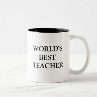 WORLD'S BEST TEACHER Two-Tone COFFEE MUG