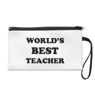 World's Best Teacher Wristlet Purse