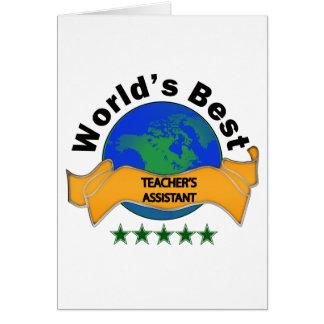 World's Best Teacher's Assistant Card