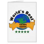 World's Best Teacher's Assistant Cards
