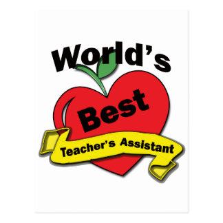 World's Best Teacher's Assistant Postcard