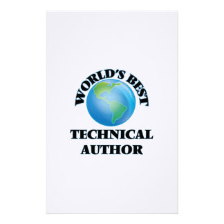 World's Best Technical Author Stationery