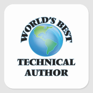 World's Best Technical Author Square Stickers