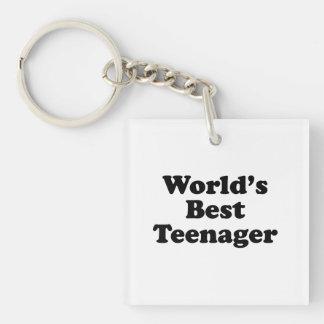 World's Best Teenager Keychain