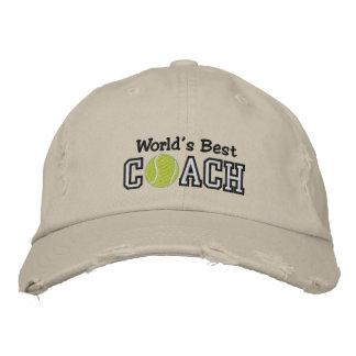 World's Best Tennis Coach Embroidered Baseball Hat