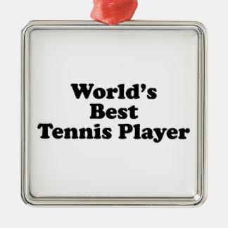 World's Best Tennis Player Metal Ornament